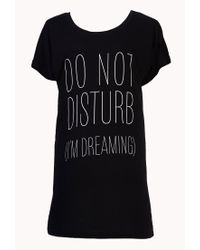 Forever 21 - Black Sweet Dreams Sleep Shirt - Lyst