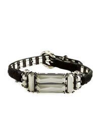 Henri Bendel - Black Deco Strap Bracelet - Lyst