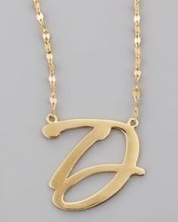 Lana Jewelry | Metallic 14k Gold Letter Necklace | Lyst