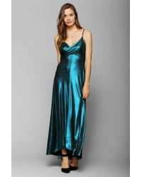 Urban Outfitters - Blue Naven Marilyne Metallic Maxi Dress - Lyst