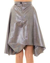 Vivienne Westwood Anglomania - Metallic Aztec Lurex Full Skirt - Lyst