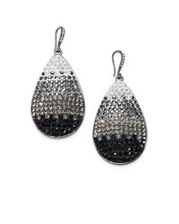 ABS By Allen Schwartz - Metallic Pave Ombre Teardrop Earrings - Lyst