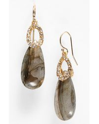 Alexis Bittar | Brown Elements Stone Teardrop Earrings | Lyst