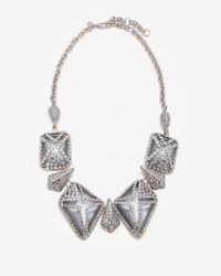 Alexis Bittar - Metallic Pave Lattice Cage Necklace - Lyst