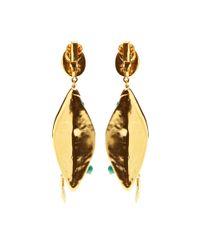 Aurelie Bidermann - Pink Monteroso Earrings with Turquoise Stones - Lyst