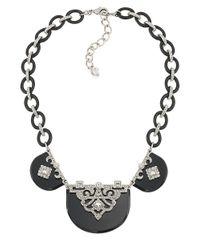Carolee - Metallic Pretty Woman Crystallized Resin Collar Pendant Necklace - Lyst