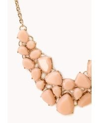 Forever 21 - Orange Sweet Side Bib Necklace - Lyst