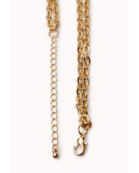 Forever 21 - Metallic Bejewled Bib Necklace - Lyst