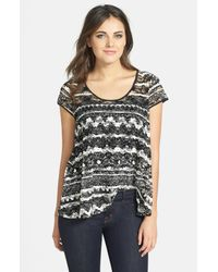 Jessica Simpson | Black Francisca Button-down Tank Top | Lyst