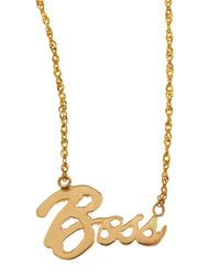 Lana Jewelry | Metallic Mini Boss 14k Gold Necklace | Lyst