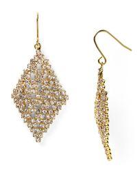 Lauren by Ralph Lauren - Metallic Starlight Jewels Mesh Drop Earrings - Lyst