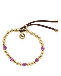 Michael Kors | Metallic Bead Embellished Bracelet | Lyst