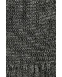 Polo Ralph Lauren | Gray Suede-trimmed Wool Gloves for Men | Lyst