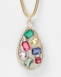 R.j. Graziano - Multicolor Color Luxe Pendant Necklace 32 - Lyst