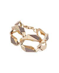 TOPSHOP - Pink Glittered Chain Bracelet - Lyst