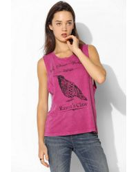 Urban Outfitters | Pink Project Social T Raven Muscle Tee | Lyst