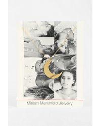 Urban Outfitters - Metallic Miriam Merenfeld Script Moon Necklace - Lyst