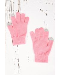 Urban Outfitters - Touch Screen Gloves in Pink - Lyst