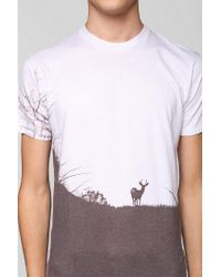 Urban Outfitters | White Deer in Woods Tee for Men | Lyst