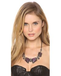 Alexis Bittar - Metallic Santa Fe Deco Caged Bib Necklace - Plum - Lyst