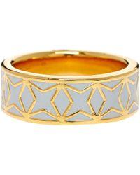 Astley Clarke - Gray Moonlight Star Mosaic Enamel Ring - Lyst