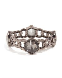 BaubleBar - Metallic Crystal Looking Glass Link Bangle - Lyst