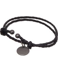 Bottega Veneta | Black Woven Bracelet - For Women | Lyst