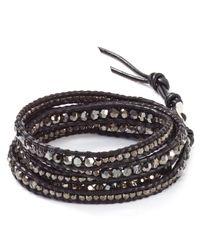 Chan Luu - Metallic Five Wrap Silver Night Bracelet - Lyst