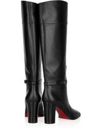 Christian Louboutin | Black Mervillion 85 Leather Knee Boots | Lyst