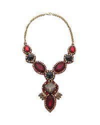 Deepa Gurnani | Red Ruby Drop Necklace | Lyst