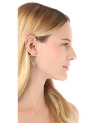 Elizabeth and James - Metallic Metropolis Triangle Slab Hoop Earrings - Lyst