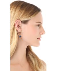 Elizabeth and James | Blue Metropolis Triangle Slab Hoop Earrings | Lyst