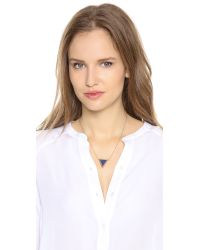 Elizabeth and James - Metallic Apollo Pendant Necklace - Gold/Amazonite - Lyst