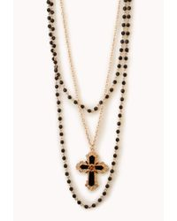 Forever 21 | Metallic Baroque Cross Necklace | Lyst