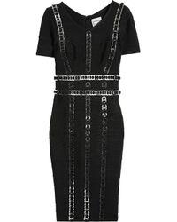 Hervé Léger | Black Ring-embellished Bandage Dress | Lyst