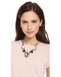 Juicy Couture - Pink Oversized Gemstone Drama Necklace - Lyst