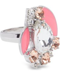 kate spade new york Metallic Frosty Floral Ring