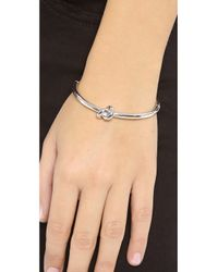 kate spade new york | Metallic Sailor's Knot Bangle Bracelet | Lyst