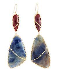 Lana Jewelry - Blue Femme Sapphire Drop Earrings - Lyst