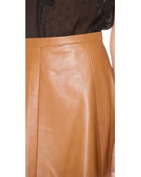 Love Leather - Brown Legs Legs Legs Leather Skirt - Lyst