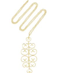 Mallarino - Metallic Mercedes 24karat Goldvermeil Filigree Necklace - Lyst