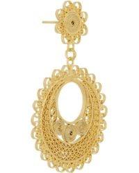 Mallarino - Metallic Rocio Small 24karat Goldvermeil Filigree Earrings - Lyst