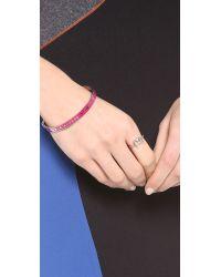 Marc By Marc Jacobs - Pink Skinny Logo Bangle Bracelet - Lyst