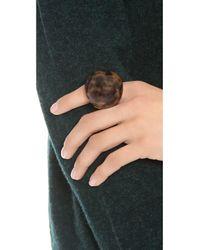 Michael Kors - Brown Tortoise Dome Ring - Lyst