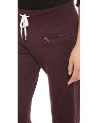 Monrow | Brown Zipper Sweatpants | Lyst