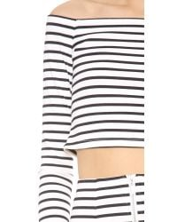 Nicholas - White Stripe Off The Shoulder Top - Lyst