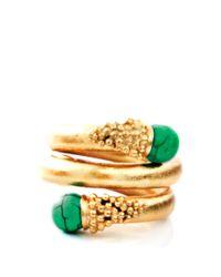Paula Mendoza | Green Chloe Emerald Ring | Lyst