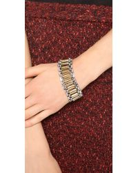 Rachel Zoe - Metallic Two Tone Narrow Watchband Bracelet - Lyst