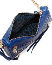 Rebecca Minkoff | Fivezip Mini Crossbody Bag Metallic Blue | Lyst