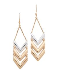 Rose Pierre - Metallic La Maison Goyard Drop Earrings - Lyst